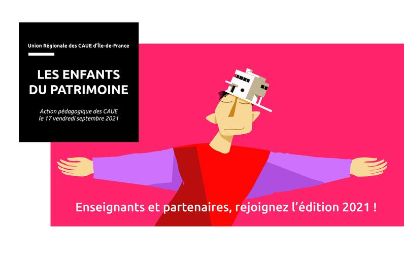 """Enseignants et professionnels : rejoignez le dispositif pédagogique """"Les Enfants du Patrimoine"""", une programmation d'activités culturelles gratuites à destination du jeune public à l'occasion des Journées Européennes du Patrimoine 2021."""
